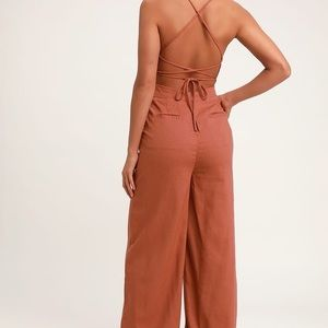 Beach Day Backless Jumpsuit